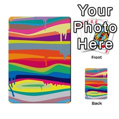 Colorfull Rainbow Multi Purpose Cards (rectangle)  by AnjaniArt