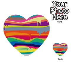 Colorfull Rainbow Multi Purpose Cards (heart)  by AnjaniArt