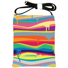 Colorfull Rainbow Shoulder Sling Bags by AnjaniArt