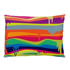 Colorfull Rainbow Pillow Case (two Sides) by AnjaniArt