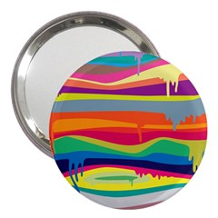 Colorfull Rainbow 3  Handbag Mirrors by AnjaniArt