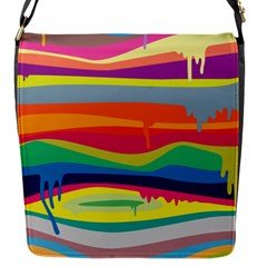 Colorfull Rainbow Flap Messenger Bag (s) by AnjaniArt