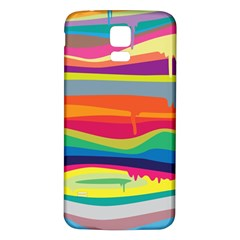 Colorfull Rainbow Samsung Galaxy S5 Back Case (white)