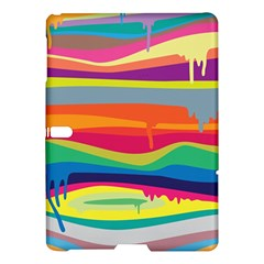 Colorfull Rainbow Samsung Galaxy Tab S (10 5 ) Hardshell Case  by AnjaniArt