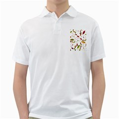 Adorable Floral Design Golf Shirts by Valentinaart