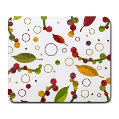 Adorable Floral Design Large Mousepads by Valentinaart