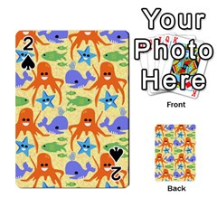 Calamari Squid Whale Playing Cards 54 Designs