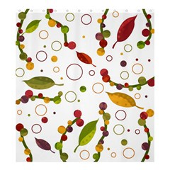 Adorable Floral Design Shower Curtain 66  X 72  (large)  by Valentinaart