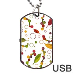 Adorable Floral Design Dog Tag Usb Flash (one Side) by Valentinaart