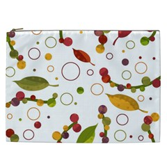 Adorable Floral Design Cosmetic Bag (xxl)  by Valentinaart