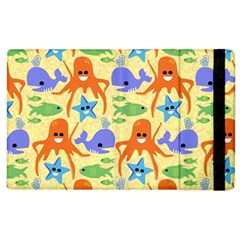 Calamari Squid Whale Apple Ipad 2 Flip Case by AnjaniArt