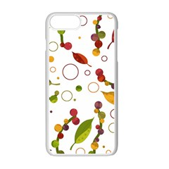 Adorable Floral Design Apple Iphone 7 Plus White Seamless Case