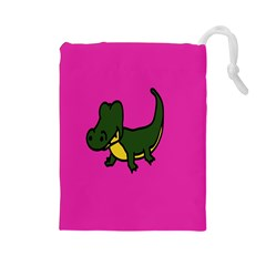 Crocodile Drawstring Pouches (large)