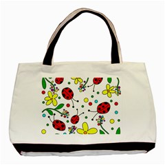 Ladybugs Basic Tote Bag (two Sides) by Valentinaart