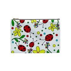 Ladybugs Cosmetic Bag (medium)  by Valentinaart