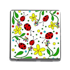 Ladybugs Memory Card Reader (square) by Valentinaart