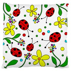 Ladybugs Large Cushion Case (two Sides) by Valentinaart