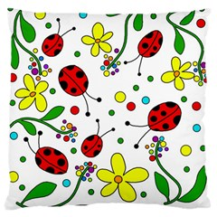 Ladybugs Standard Flano Cushion Case (one Side) by Valentinaart