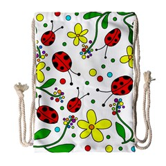 Ladybugs Drawstring Bag (large) by Valentinaart