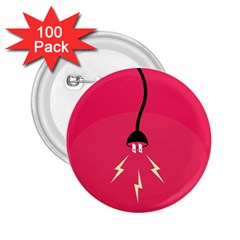 Electric Jack 2 25  Buttons (100 Pack)