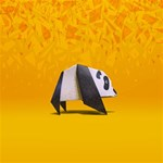 Cute Panda SORRY 3D Greeting Card (8x4) Inside