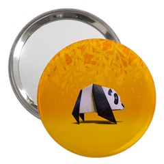 Cute Panda 3  Handbag Mirrors by AnjaniArt