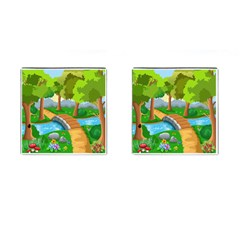 Cute Cartoon Cufflinks (square)