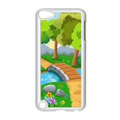 Cute Cartoon Apple Ipod Touch 5 Case (white)