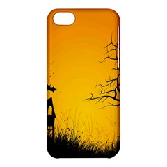 Day Halloween Night Apple Iphone 5c Hardshell Case by AnjaniArt