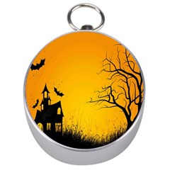 Day Halloween Night Silver Compasses by AnjaniArt
