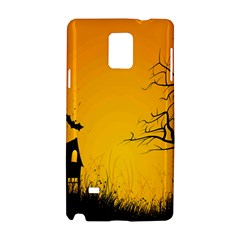 Day Halloween Night Samsung Galaxy Note 4 Hardshell Case by AnjaniArt