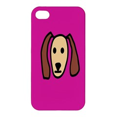 Face Dog Apple Iphone 4/4s Premium Hardshell Case by AnjaniArt