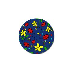 Ladybugs   Blue Golf Ball Marker (4 Pack) by Valentinaart