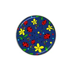 Ladybugs   Blue Hat Clip Ball Marker by Valentinaart
