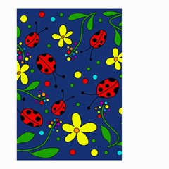 Ladybugs   Blue Small Garden Flag (two Sides)