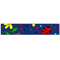 Ladybugs   Blue Flano Scarf (large) by Valentinaart