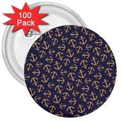 Anchor Ship 3  Buttons (100 Pack)