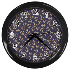 Anchor Ship Wall Clocks (black) by AnjaniArt
