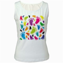 Foot Soles Of The Feet Women s White Tank Top