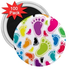 Foot Soles Of The Feet 3  Magnets (100 Pack)