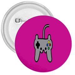 Game Pink 3  Buttons by AnjaniArt