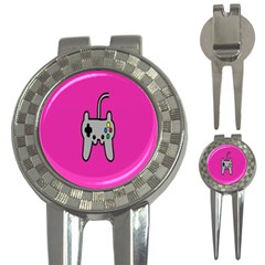 Game Pink 3 In 1 Golf Divots by AnjaniArt