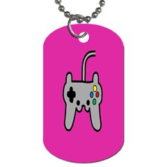Game Pink Dog Tag (two Sides)