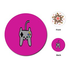 Game Pink Playing Cards (round)