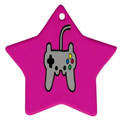 Game Pink Star Ornament (two Sides)  by AnjaniArt