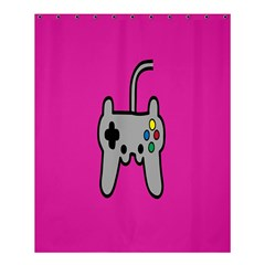 Game Pink Shower Curtain 60  X 72  (medium)  by AnjaniArt