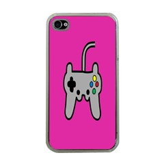 Game Pink Apple Iphone 4 Case (clear) by AnjaniArt
