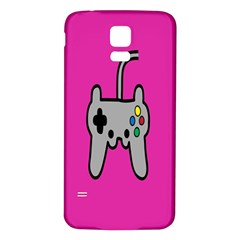 Game Pink Samsung Galaxy S5 Back Case (white)