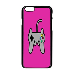 Game Pink Apple Iphone 6/6s Black Enamel Case by AnjaniArt
