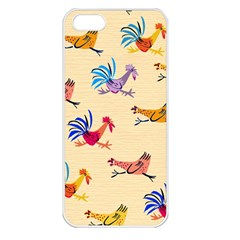 Chicken Apple Iphone 5 Seamless Case (white) by AnjaniArt